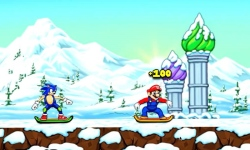 My friends Mario and sonic Toon Skiing screenshot 3/5