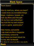 Taylor Swift Lyrics 2015 screenshot 2/2