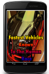 Fastest Vehicles Known To The Human Race screenshot 1/3