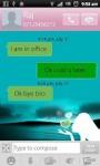 Romantic Hearts Girl SMS Theme screenshot 4/5