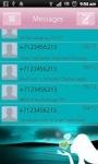 Romantic Hearts Girl SMS Theme screenshot 5/5