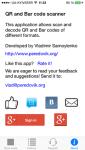 QR and Bar code scanner for iOS screenshot 5/5