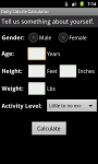 Daily Calorie Calculator for Android screenshot 2/6