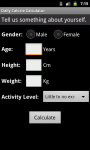 Daily Calorie Calculator for Android screenshot 3/6