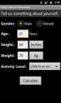 Daily Calorie Calculator for Android screenshot 4/6