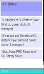 DU Battery  screenshot 1/1