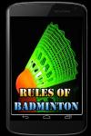 Rules of Badminton screenshot 1/3
