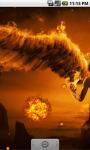 Flame Angel Cool Live Wallpaper screenshot 2/4