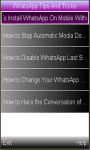 WhatsApp Tips  And  Tricks screenshot 1/1