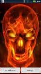Red Flame Skull Live Wallpaper screenshot 1/3