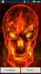 Red Flame Skull Live Wallpaper screenshot 3/3