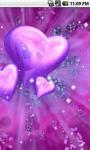 Purple Heart Love Live Wallpaper screenshot 3/5