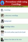 Precautions while using Centrifuge screenshot 2/3