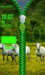 White Horses Zip Lock Screen screenshot 6/6