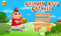 Chicken egg Catcher: Farm Game screenshot 1/4