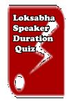 Lok Sabha Speaker Duration Quiz screenshot 1/3