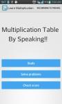 Multiplication Table By Speak screenshot 1/5
