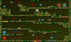 FireBoy And WaterGir in The Forest Temple screenshot 2/4
