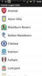 Barclays Premier League Explorer screenshot 1/6