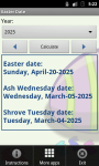 Easter Date screenshot 2/4