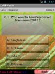 cricket Quizs screenshot 2/3