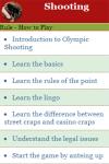 Rules to play Shooting screenshot 2/3