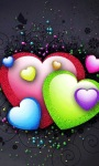 Colorful Hearts Live Wallpaper screenshot 1/3