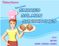 Barbie Cooking Smoked Salmon Sandwiches screenshot 1/4
