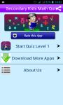 Math Quiz 4 Secondary Students screenshot 1/4