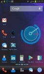 Crystal Blue Super Go Launcher Theme screenshot 1/3