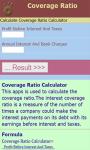 Coverage Ratio Calculator screenshot 2/3