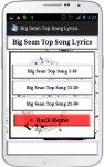 Big Sean Song Lyrics screenshot 2/4