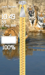 Zipper Lock Screen Tiger screenshot 4/6