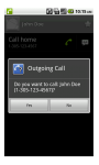 Outgoing Call Confirm by mekDroid screenshot 1/2