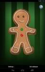 Gingerbread Man Live Wallpaper screenshot 1/6