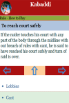 Rules to play Kabaddi screenshot 2/2
