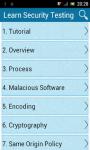 Learn Secutity Testing screenshot 1/6
