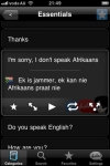 Lingopal Afrikaans LITE - talking phrasebook screenshot 1/1