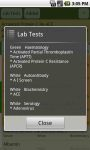 PediResi Lab Tests screenshot 5/5
