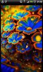 Blue Flower Sparkles Live Wallpaper Theme LWP screenshot 2/3