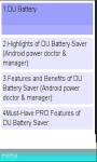 Info On DU Battery Saver  Doctor screenshot 1/1