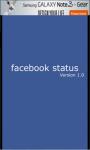 Facebook Status screenshot 1/4