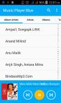 Music Player Blue screenshot 1/5