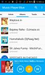 Music Player Blue screenshot 3/5