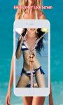 Bikini Zipper Lock Screen screenshot 5/6
