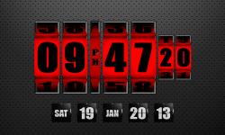 3D Rolling Clock Widgets RED screenshot 1/1