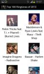 Top 100 Ringtones of 2013 screenshot 2/6