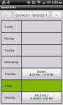 Work Shifts Free screenshot 1/6
