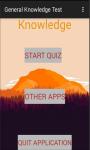 General Knowledge Test screenshot 1/4