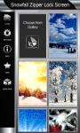 Snowfall Zipper Lock Screen screenshot 4/6